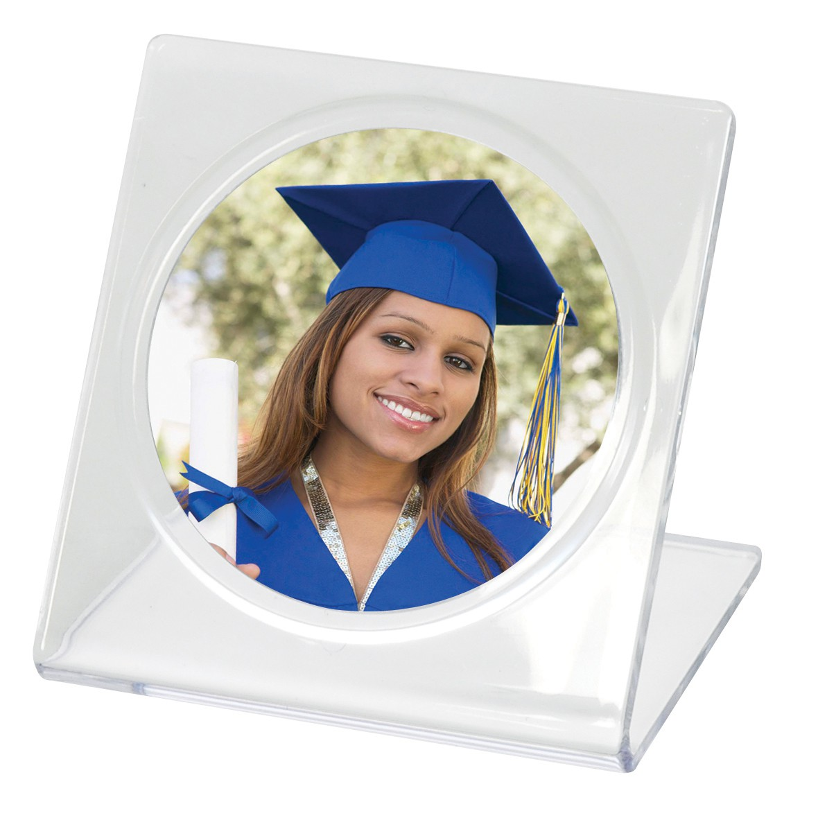 Bent Easel Frames for Circle Photos