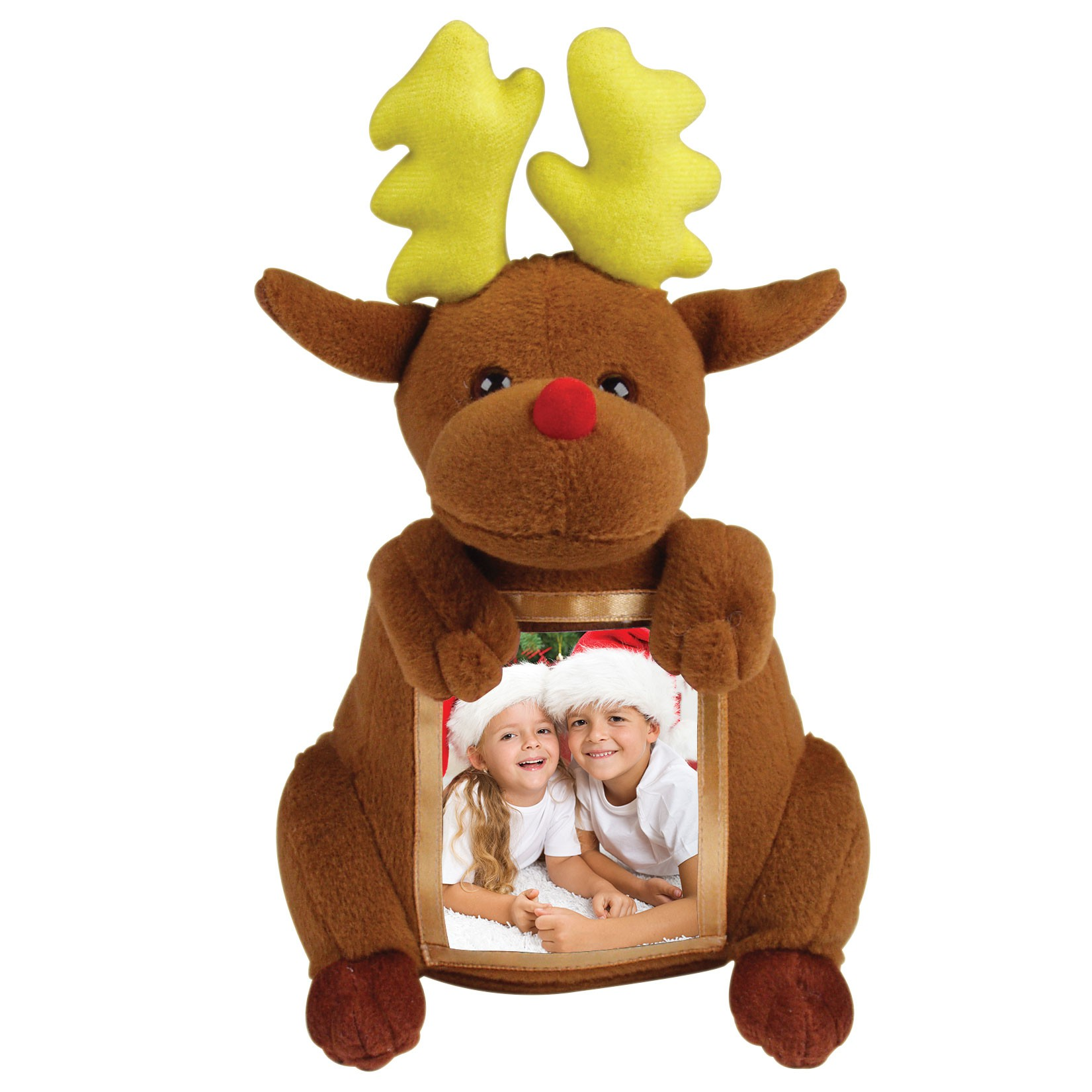 Holiday Wholsale Reindeer Plush Picture Frame Neil Enterprises