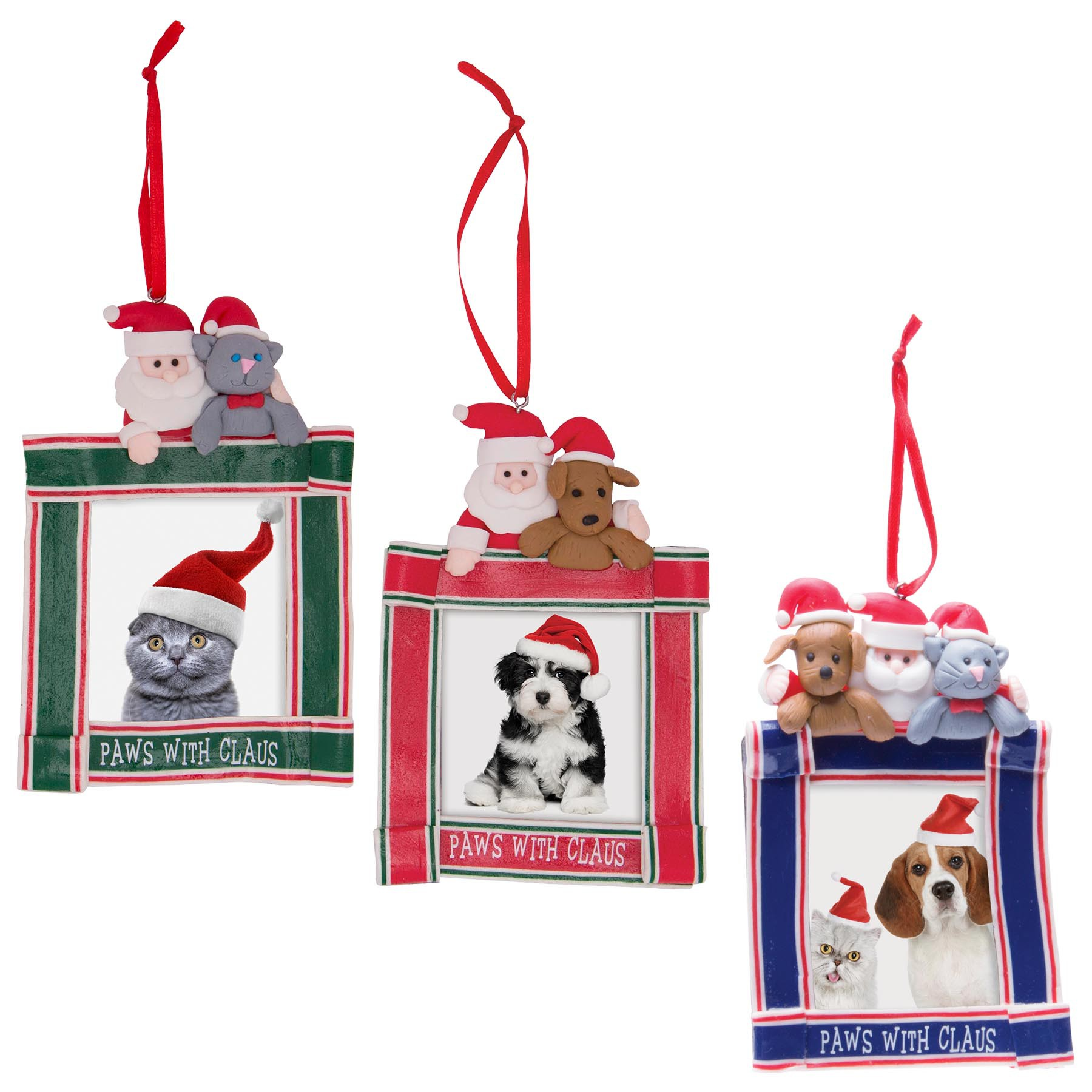 Clay Dough Paws with Claus Ornaments