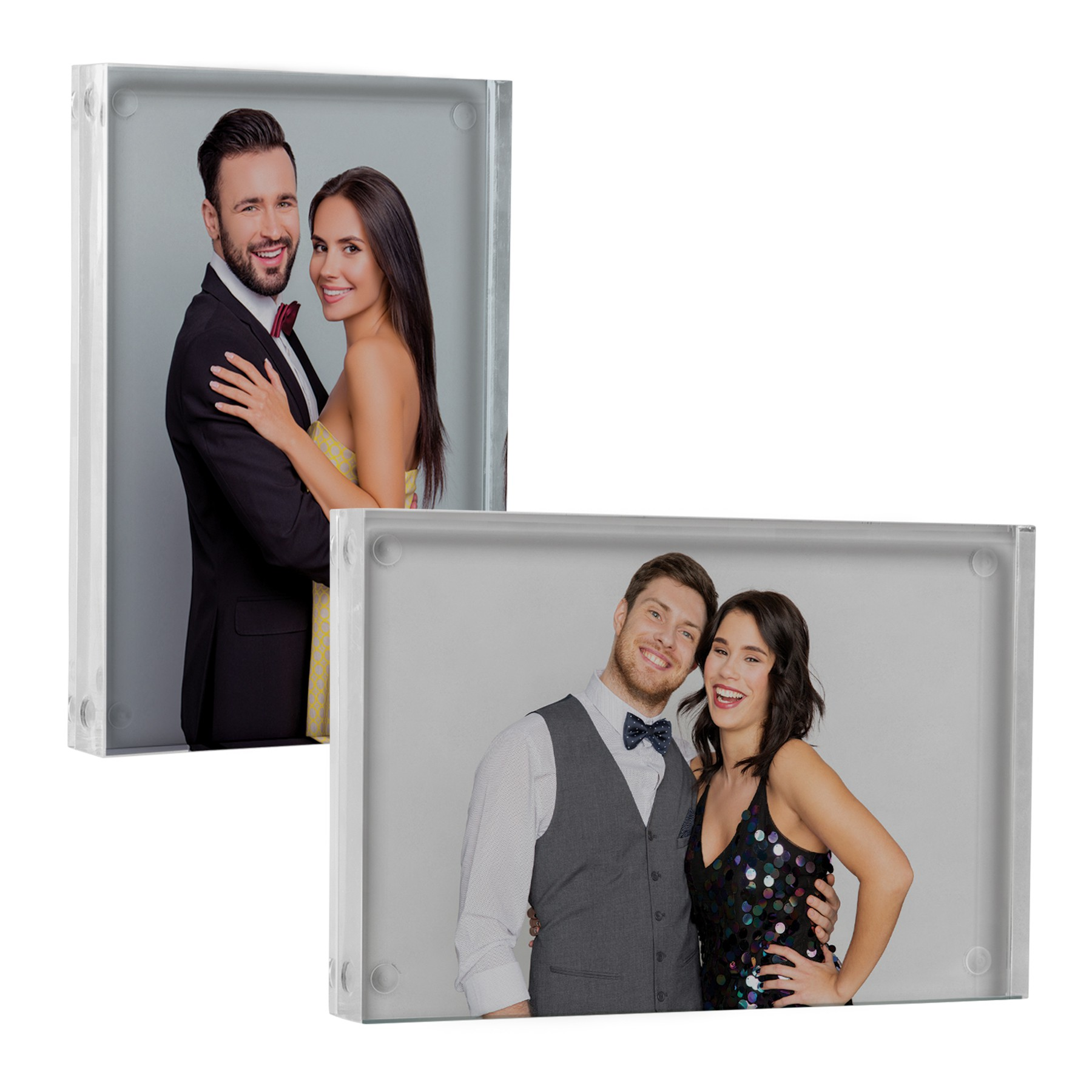 Magnetic Acrylic Block Picture Frame