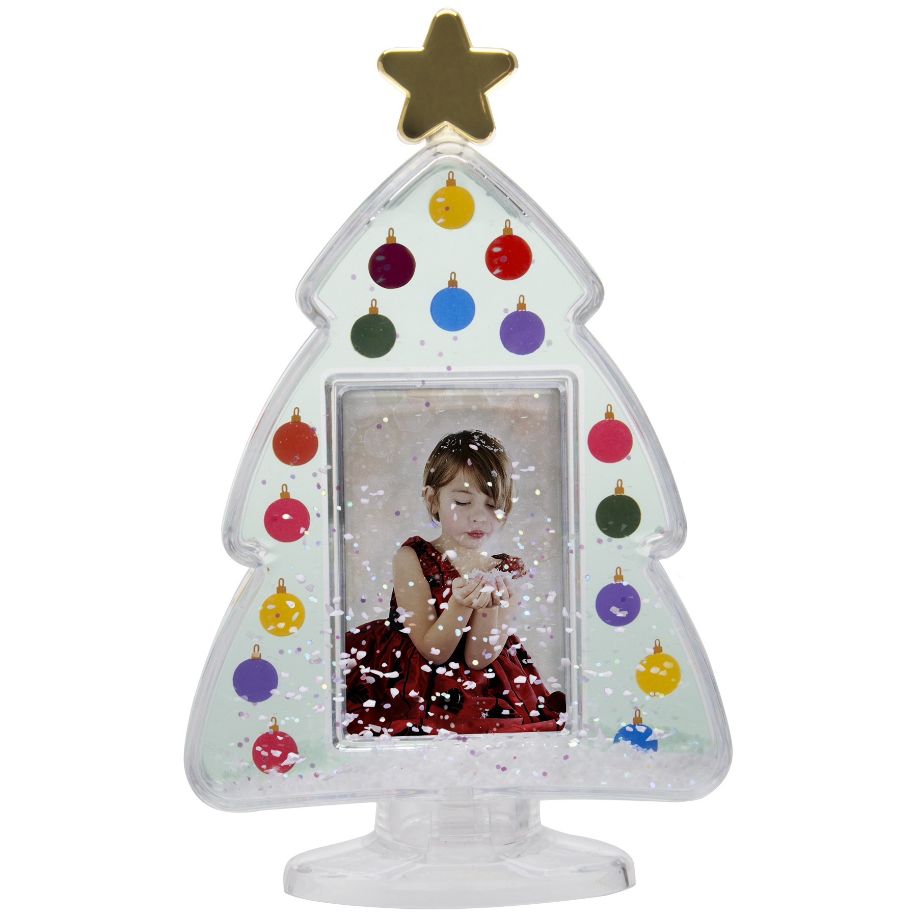 Wholesale Plastic Christmas Tree Photo Snow Globes
