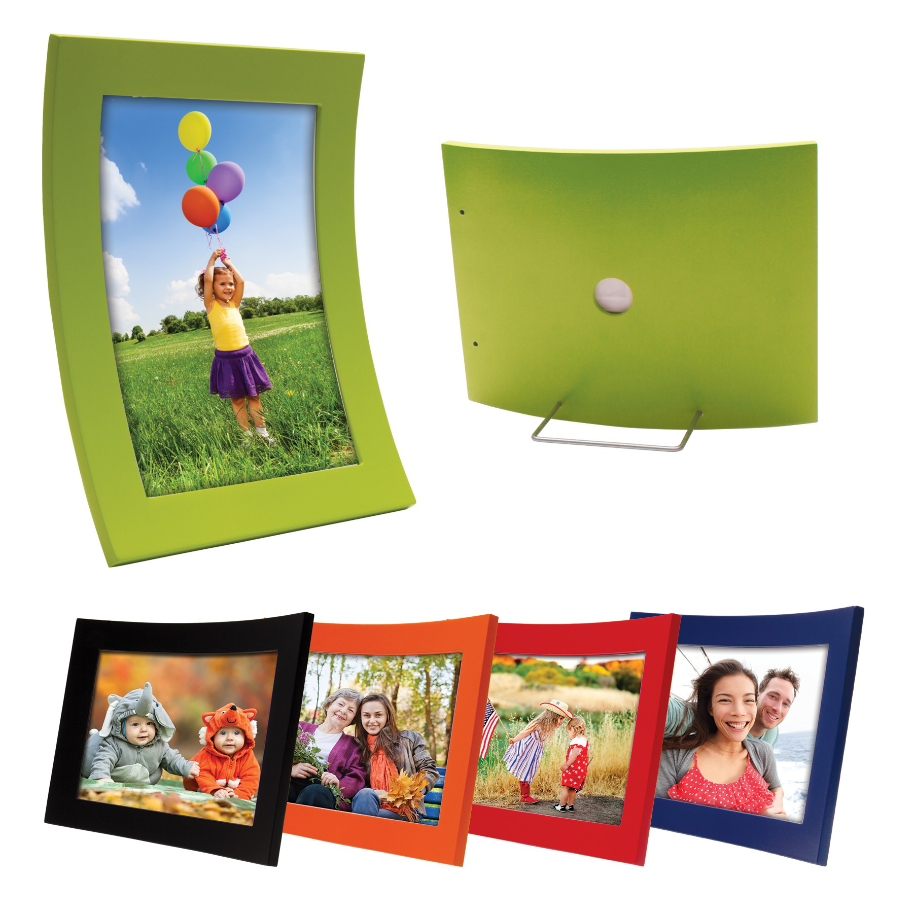 Curved Wood Color Picture Frames