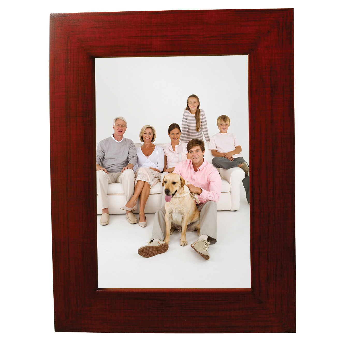 Faux Mahogany Picture Frame