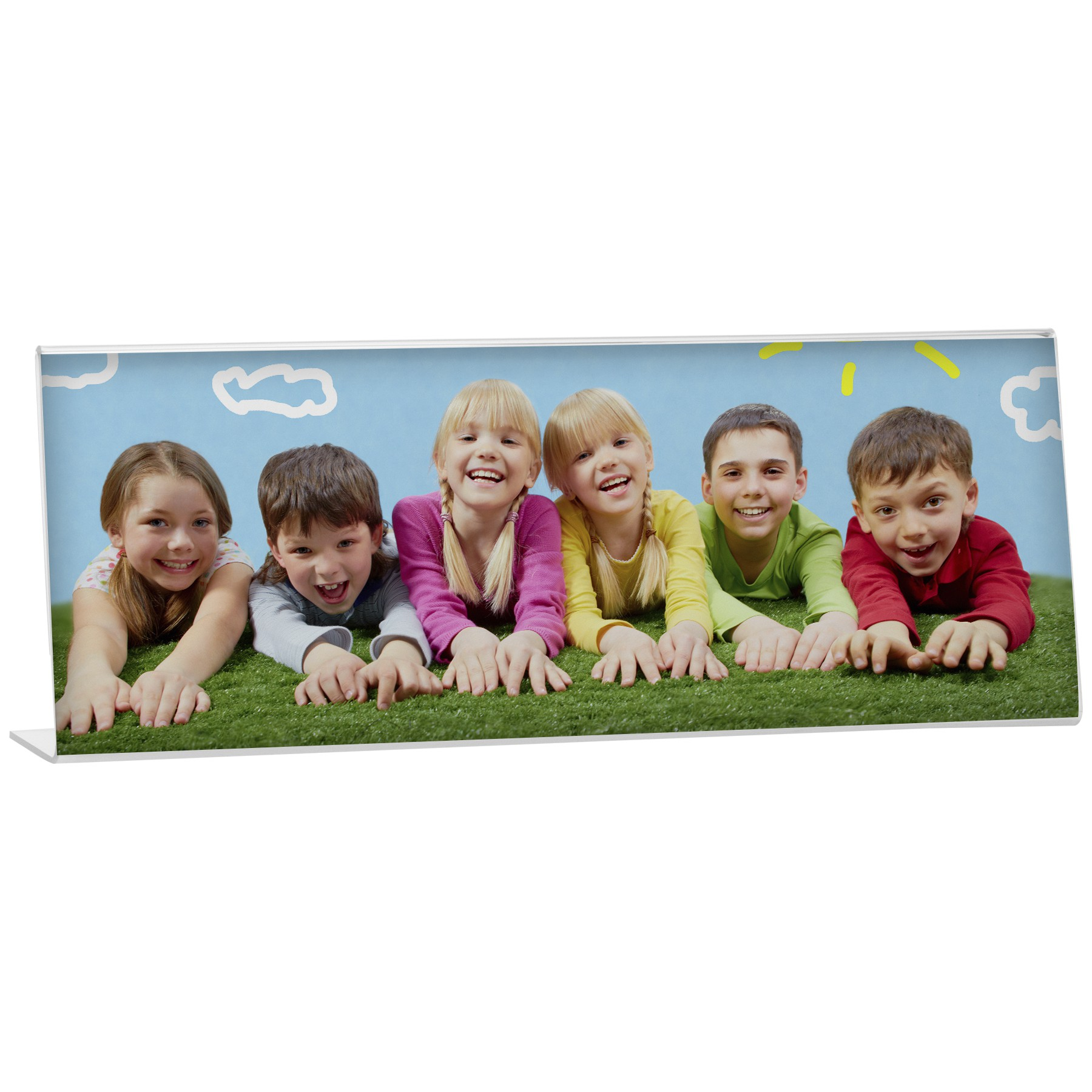 Bent Easel Panoramic Picture Frame