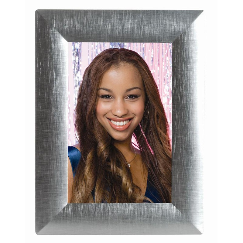 Cross Brushed Silver Picture Frames