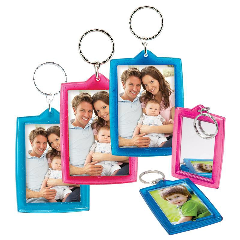 Sparkle Photo Keychains with Mirror