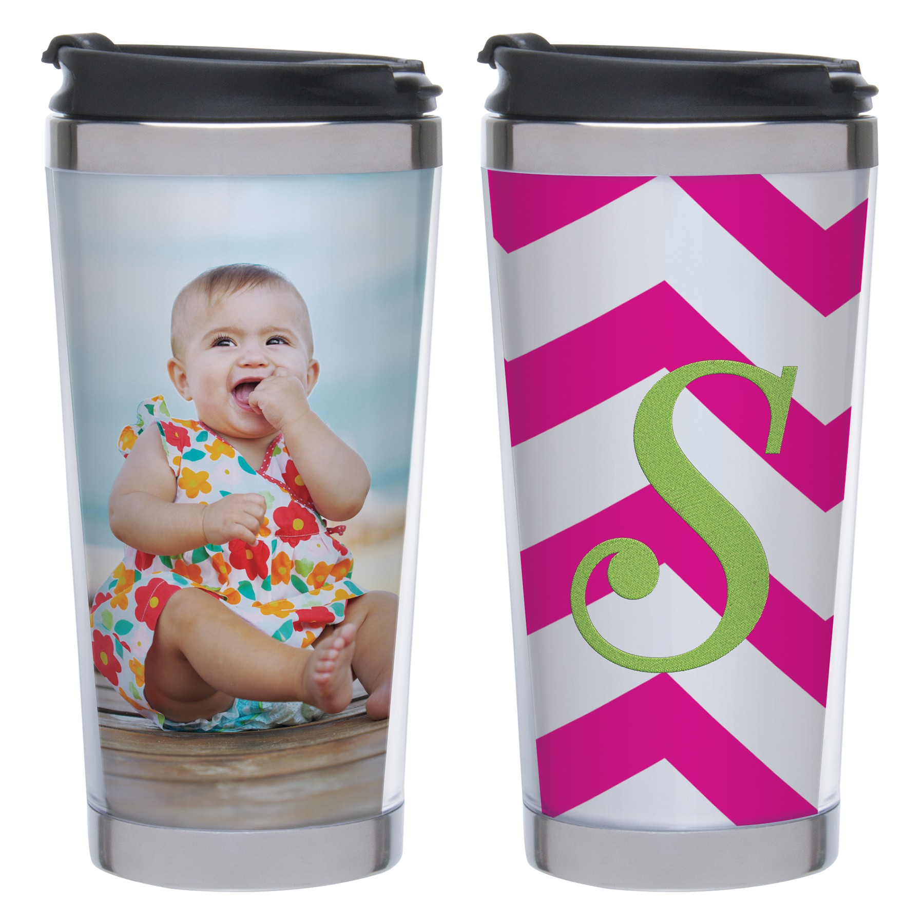 Wholesale DIY Stainless Steel Photo Travel Tumbler
