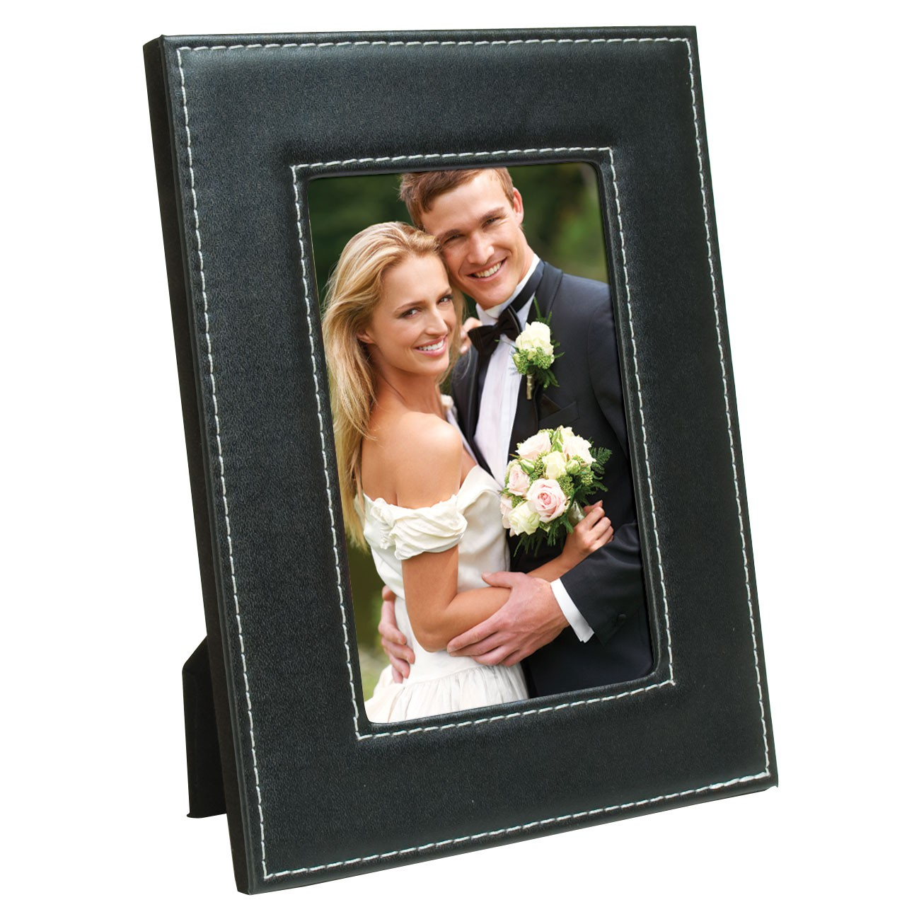 White Stitch Easel Picture Frame