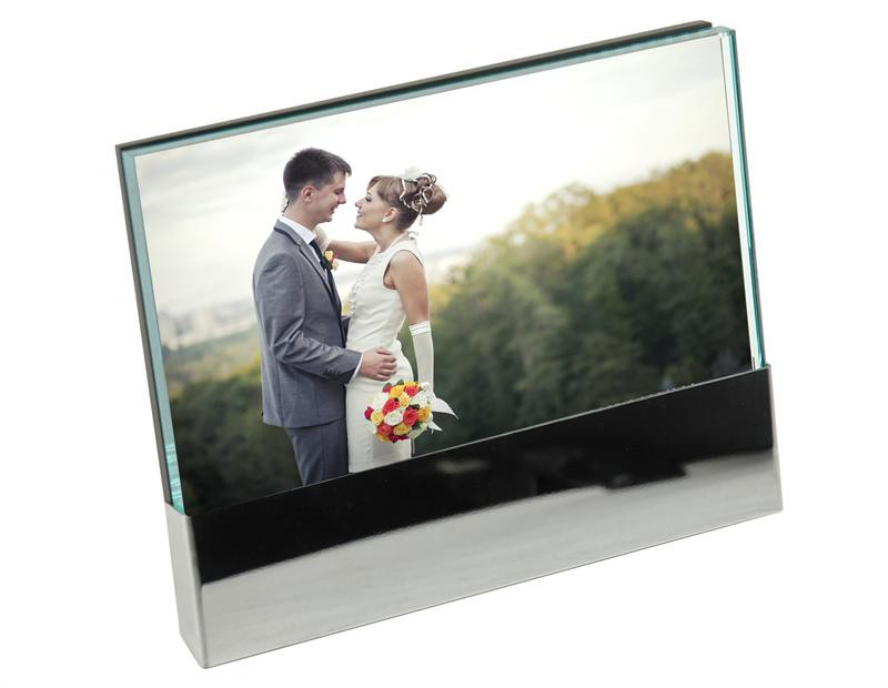 Deluxe Glass and Metal Picture Frame