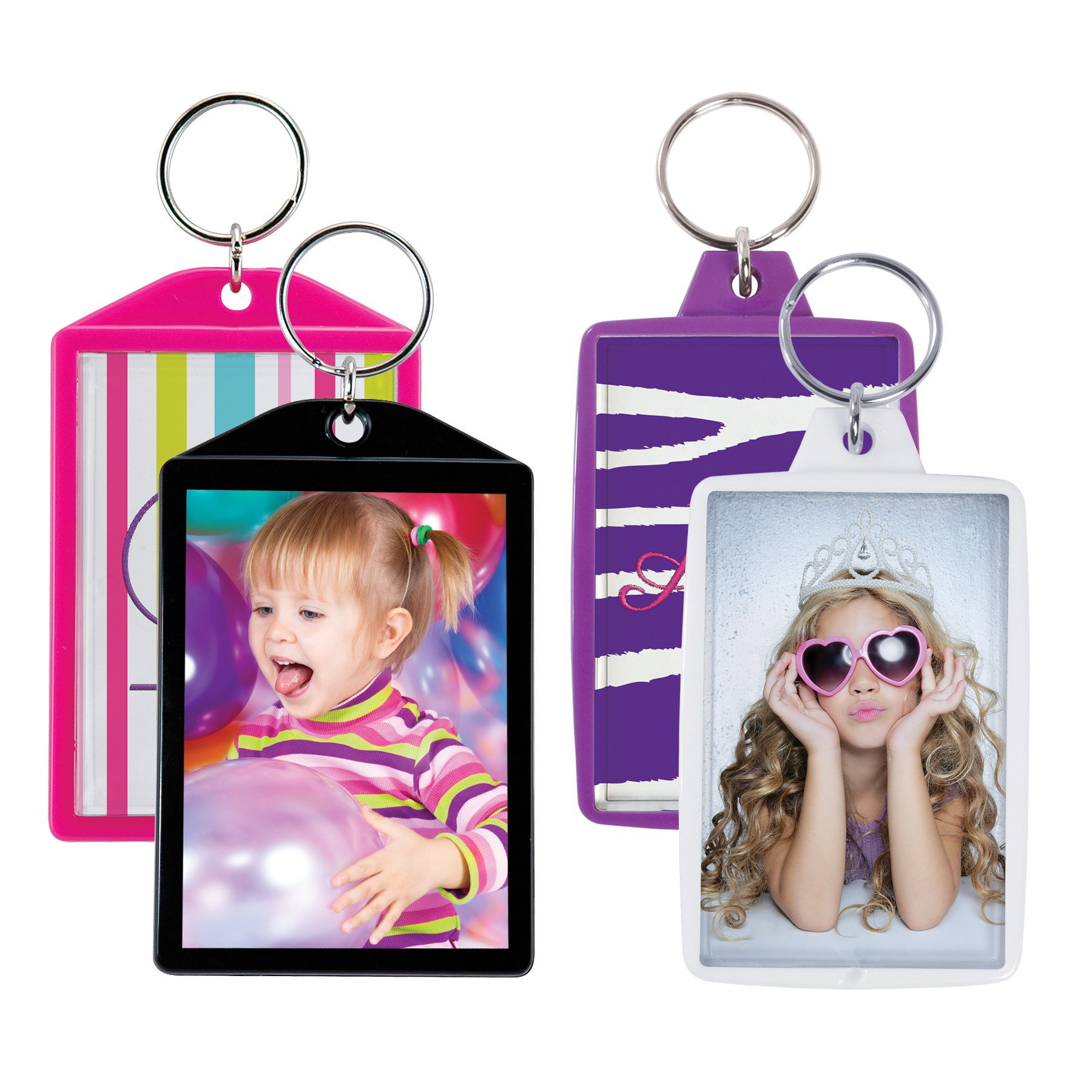 wholesale color photo keychains snap in plastic for special event photographers bulk