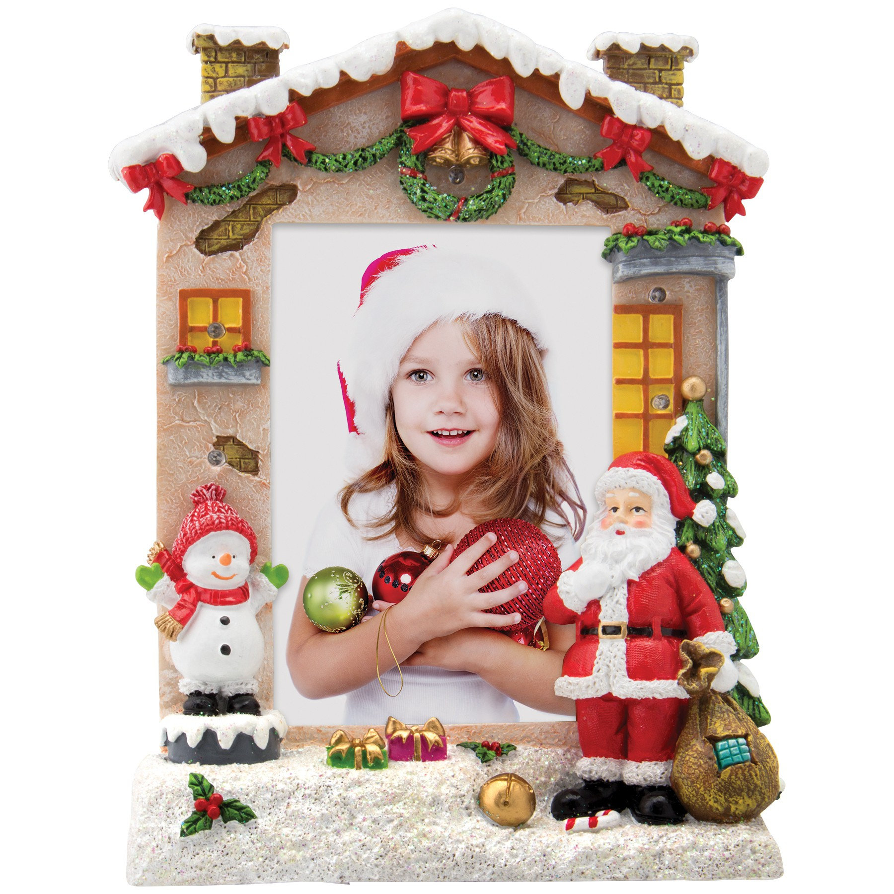 4 X 6 Light Up Christmas Resin Picture Frame