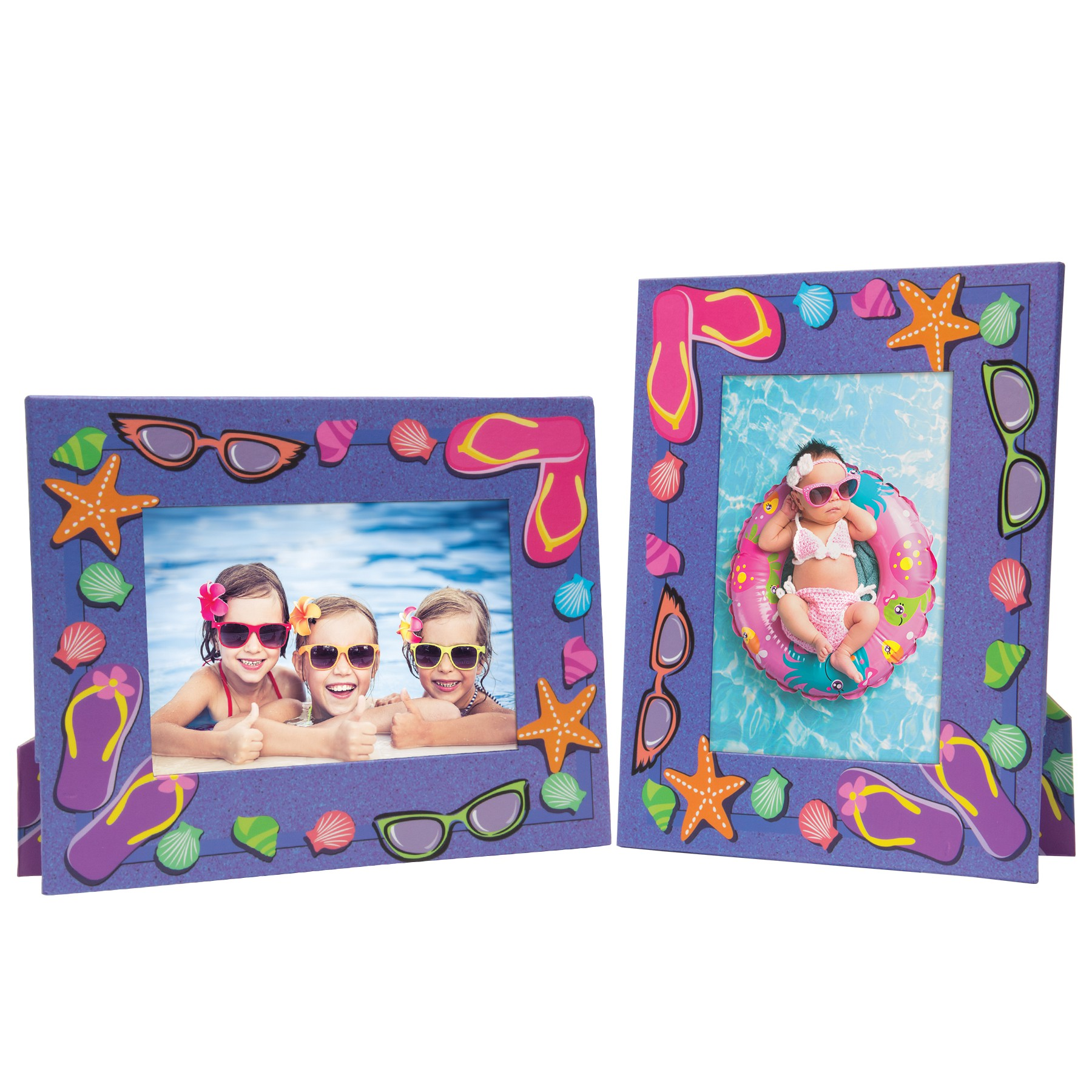 Summer Sunglasses Flip Flops Picture Frames