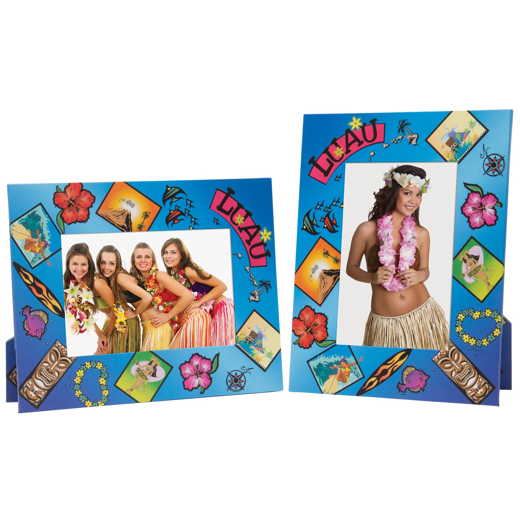Luau Paper Picture Frame