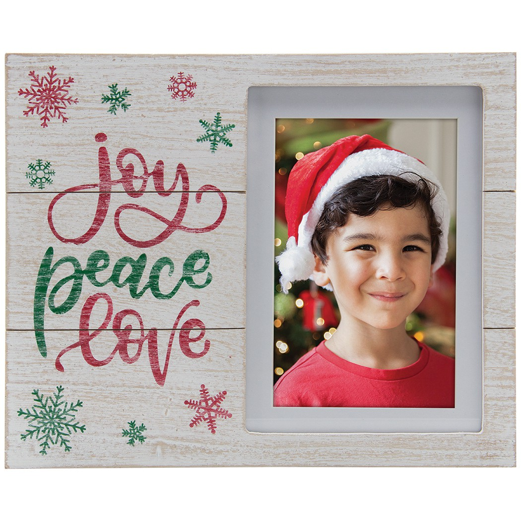 Wholesale joy peace love Christmas 4x6 5x7 picture frame for Santa photographers