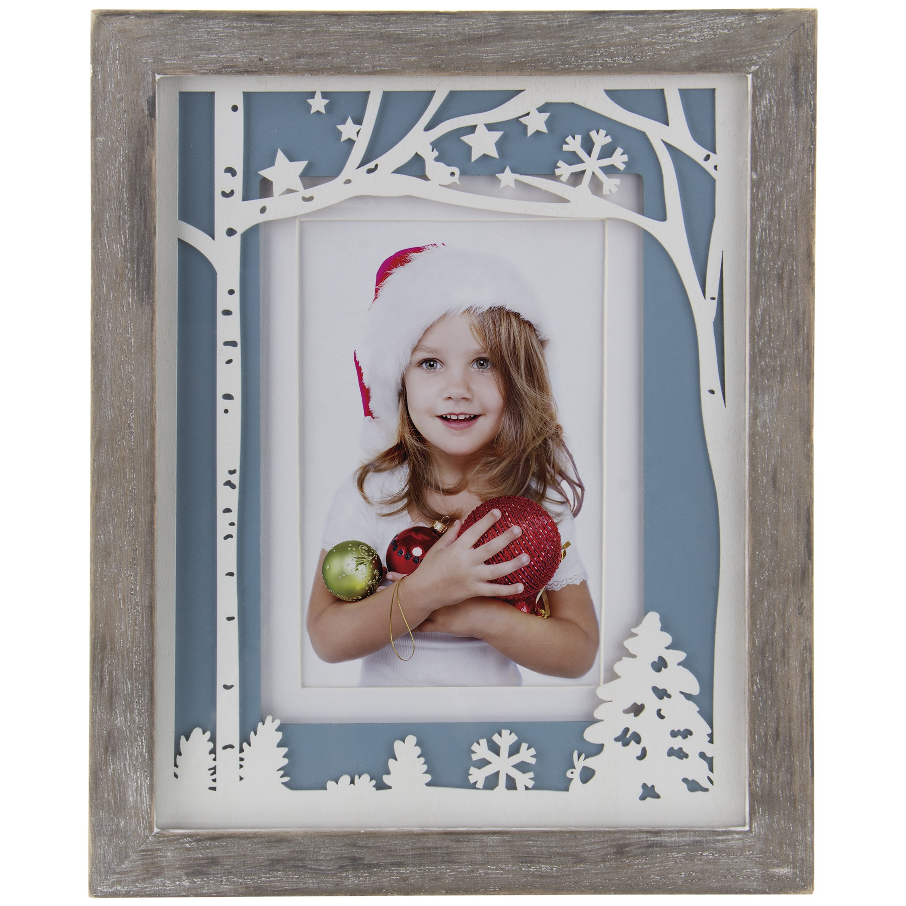 Winter Laser Cut Wood Picture Frame