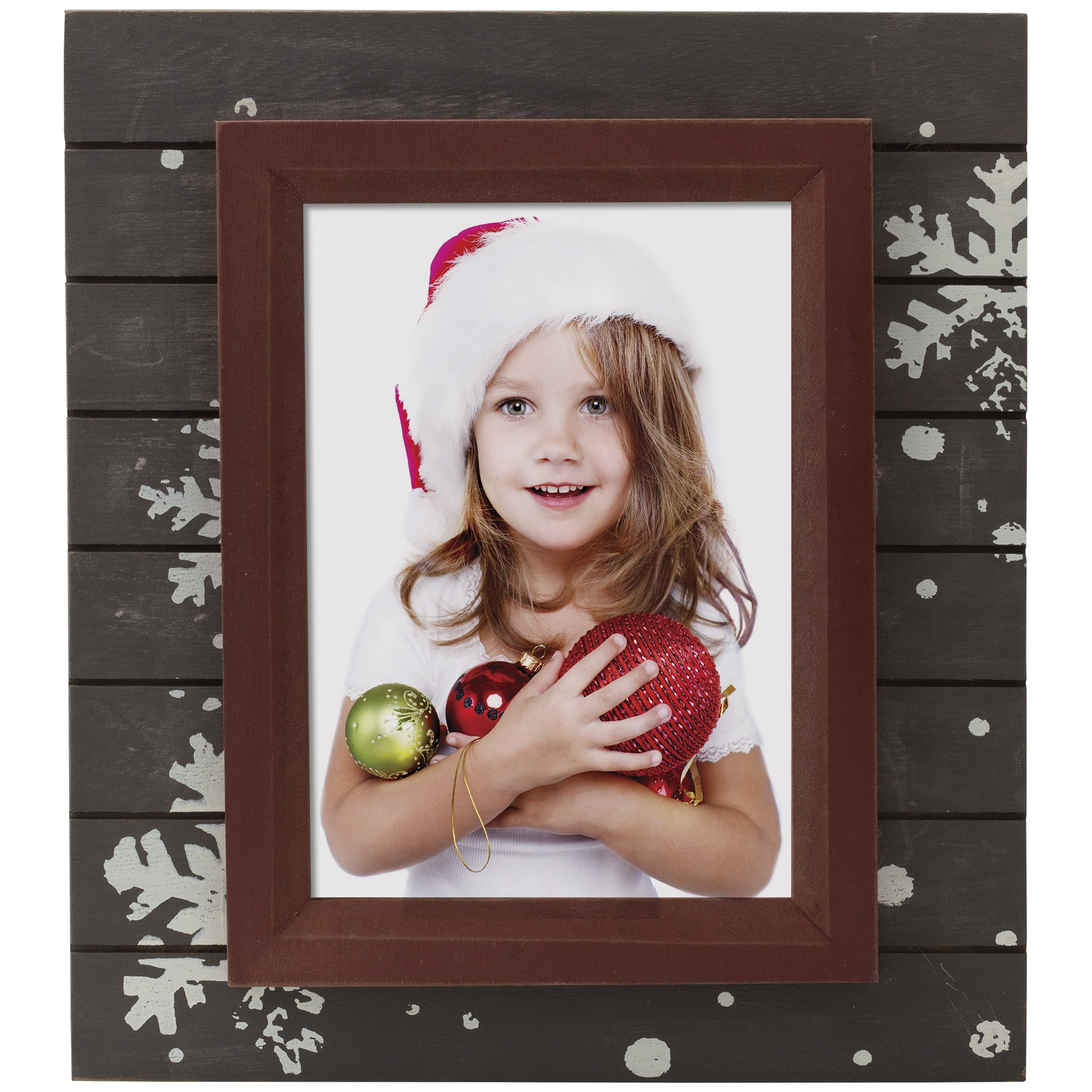 wholesale winter christmas wood picture frame 4x6 5x7 for profesisonal santa photographers