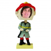 Fireman Photo Bobble Head