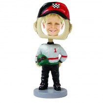 Wholesale Race Car Driver Photo Bobble Head