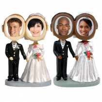 Wedding Couple Photo Bobble Heads