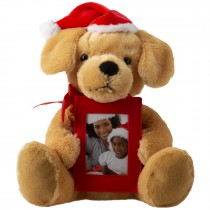 wholesale santa claus stuffed animal dog