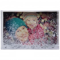 wholesale 4x6 6x4 picture frame globe snow photo shake plastic