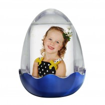 Wholesale Blue Easter Egg Photo Snow Globe