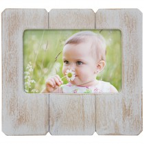 White Distressed Wood Picture Frame