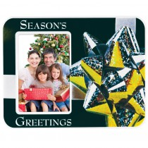 Season's Greetings Puff Picture Frame