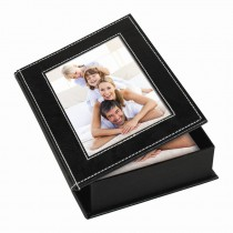 White Stitch Memory Photo Box