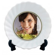 White Ceramic Photo Plates