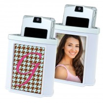 White Photo Cell Phone Holder