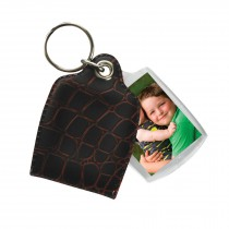 Photo Keychains with Leather-Like Pouch