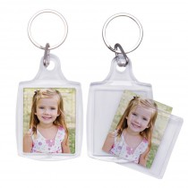 Snapins Plastic Photo Keychains