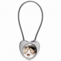 Heart Rope Photo Keychain