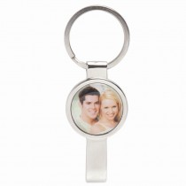Silver Photo Bottle Opener Keychain