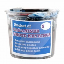 Carabiner Photo Keychain Bucket