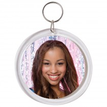 Snapins Circle Photo Keychain
