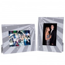 White and Grey Stars Picture Frames
