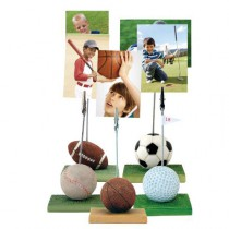 Sports Ball Resin Photo Clip Stand