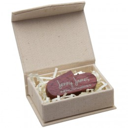 Linen Flash Drive Box