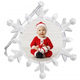 wholesale light up snowflake ornament picture frame photographer santa