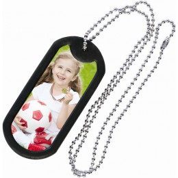 wholesale photo dog tag with beaded chain for photographers
