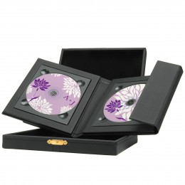 Wholesale Leather CD Holder with Presentation box for videographers and photographers