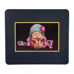 Black Photo Mouse Pad