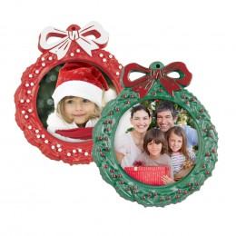 wholesale plastic wreath photo ornament picture frame professional photographer santa round circle