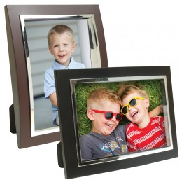 Plastic Curved Picture Frames with Inset Bezel