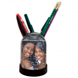 Pencil Cup Photo Snow Globe