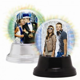 Mini LIGHT UP Photo Snow Globe