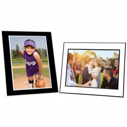 Black & White Cardboard Easel Picture Frame
