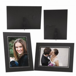 Wholesale black cardboard elite easel photo mount